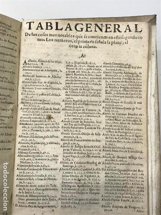 Libros antiguos: Mariana. Historia General de España, Madrid 1650. Tomo segundo. - Foto 5 - 139599246