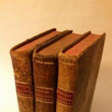 Libros antiguos: 1768 - BOSSUET - POLÍTICA DEDUCIDA DE LAS PROPIAS PALABRAS DE LA SAGRADA ESCRITURA - 3 TOMOS. Lote 139648106