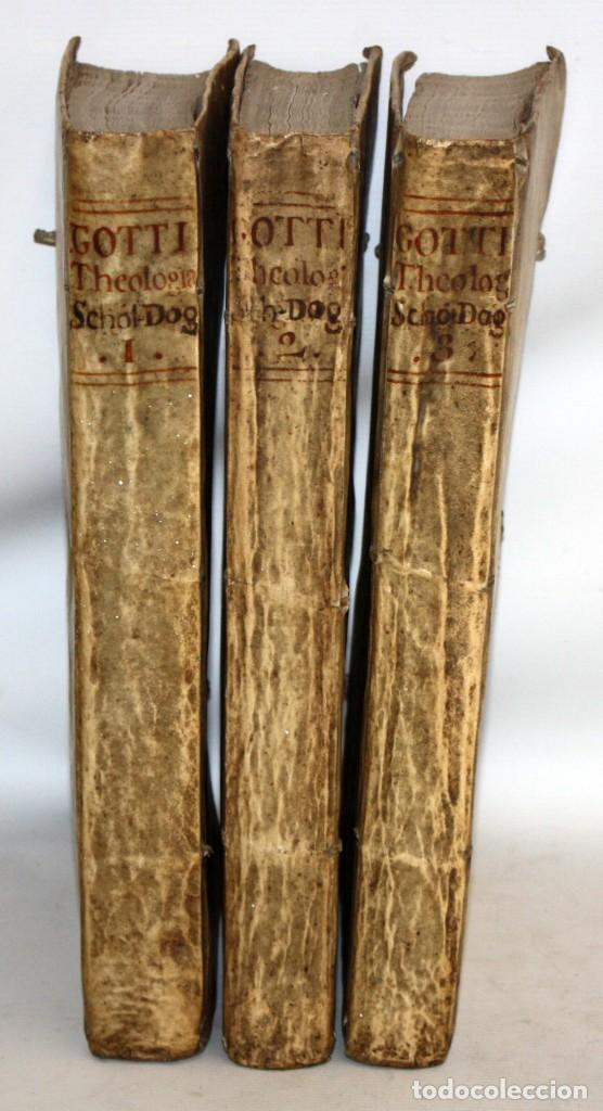 THEOLOGIA SCHOLASTICO-DOGMATICA. DIVI THOMAE AQUINATIS. VENETIIS, 1793. 3 TOMOS PERGAMINO. COMPLETA. (Libros Antiguos, Raros y Curiosos - Ciencias, Manuales y Oficios - Otros)