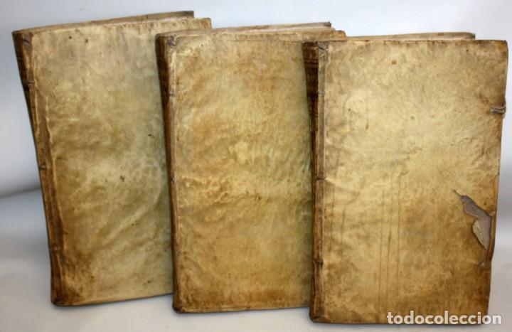 Libros antiguos: THEOLOGIA SCHOLASTICO-DOGMATICA. DIVI THOMAE AQUINATIS. VENETIIS, 1793. 3 TOMOS PERGAMINO. COMPLETA. - Foto 3 - 139698950