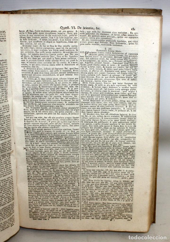 Libros antiguos: THEOLOGIA SCHOLASTICO-DOGMATICA. DIVI THOMAE AQUINATIS. VENETIIS, 1793. 3 TOMOS PERGAMINO. COMPLETA. - Foto 9 - 139698950