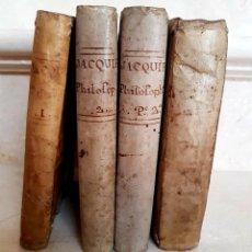 Libros antiguos: CUATRO TOMOS,INSTITUCIONES PHILOSOPHICAE AD STUDIA THEOLOGICA,FRANCISCO JACQUIER,S. XVIII. Lote 139712286