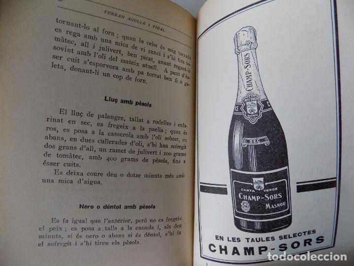 Libros antiguos: LIBRERIA GHOTICA. FERRAN AGULLÓ I VIDAL.LLIBRE DE LA CUINA CATALANA. 1928. 1A EDICIÓN. ILUSTRADO. - Foto 4 - 139763082