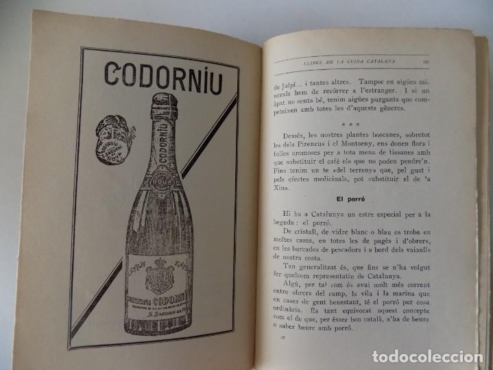 Libros antiguos: LIBRERIA GHOTICA. FERRAN AGULLÓ I VIDAL.LLIBRE DE LA CUINA CATALANA. 1928. 1A EDICIÓN. ILUSTRADO. - Foto 5 - 139763082