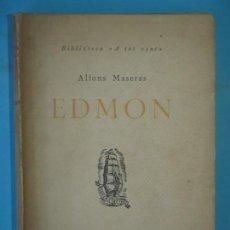 Libros antiguos: EDMON - ALFONS MASERAS - EDICIONS PROA, COL.LECCIO A TOT VENT Nº 13, 1929. Lote 140018678
