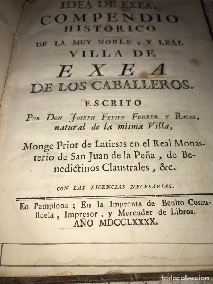 Libros antiguos: IDEA DE EXEA. EJEA DE LOS CABALLEROS. IMPRESO EN PAMPLONA 1790. MUY RARO. - Foto 3 - 140027826