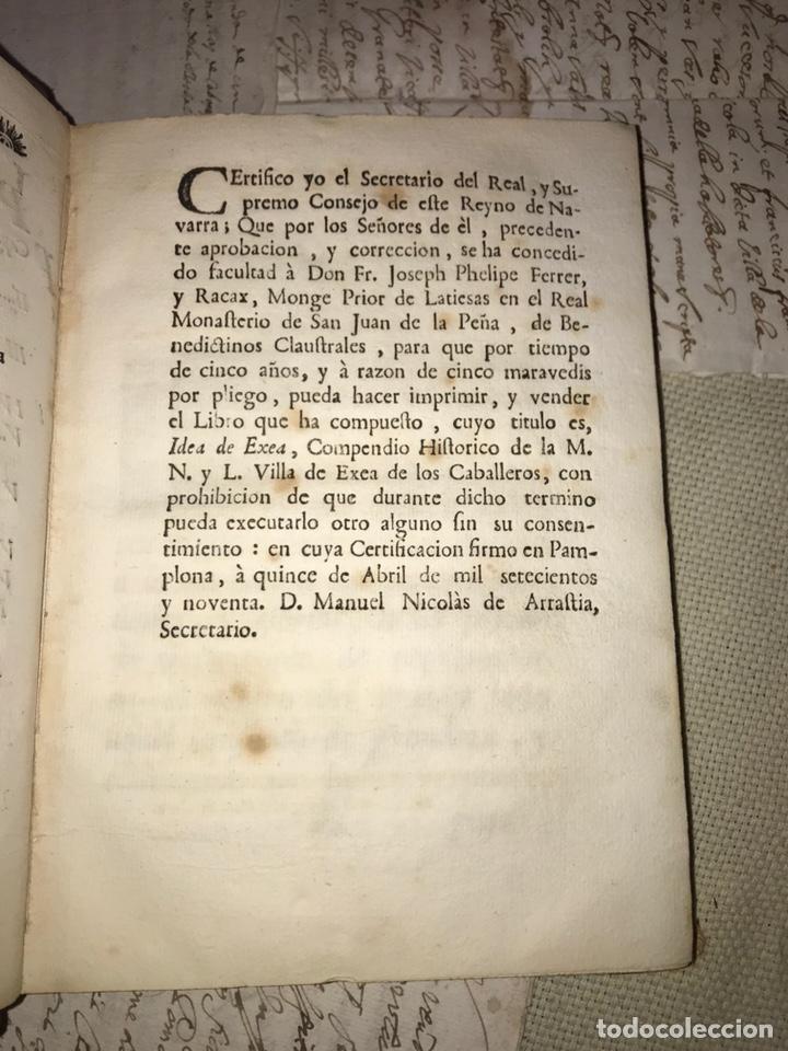 Libros antiguos: IDEA DE EXEA. EJEA DE LOS CABALLEROS. IMPRESO EN PAMPLONA 1790. MUY RARO. - Foto 5 - 140027826