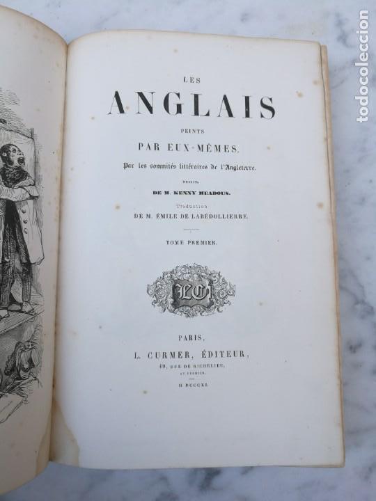 Libros antiguos: Les anglais peints par eux memes 1841 - Foto 2 - 140040942