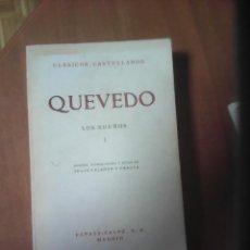 Libros antiguos: QUEVEDO - LOS SUEÑOS TOMO. I. Lote 140047722