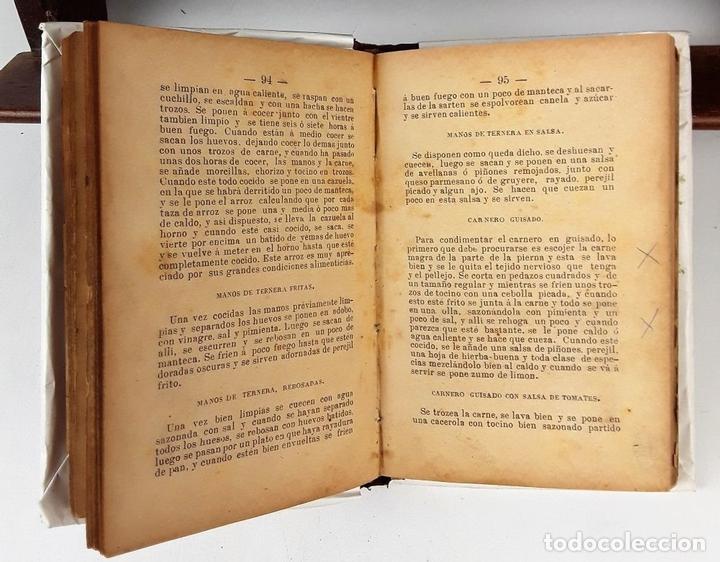Libros antiguos: LA COCINERA MODERNA. MANUAL PRÁCTICO DE COCINA. E. V. IMP. CASA BENEFICENCIA. VALENCIA. 1888. - Foto 3 - 140084534
