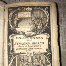 Libros antiguos: 1661. JUDÍOS, RITOS Y CONSTUMBRES. SINAGOGA JUDAICA. BUXTORF, JOHANN. Lote 140152022