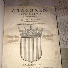 Libros antiguos: 1588. JERÓNIMO BLANCAS. COMENTARIOS DE ARAGÓN. 1ª EDICIÓN ILUSTRADA CON GRABADOS.. Lote 140159090