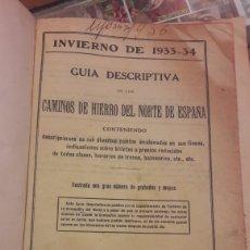Libros antiguos: INVIERNO 1933. 34 GUIA CAMINOS DE HIERRO DEL NORTE ESPAÑA. Lote 140164570