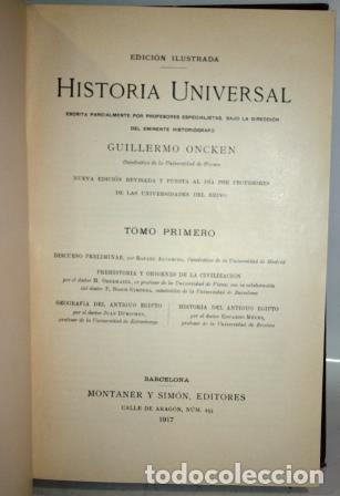 Libros antiguos: HISTORIA UNIVERSAL. ONCKEN, Guillermo. 46 tomos - Foto 4 - 140243970