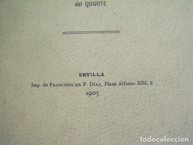 Libros antiguos: Libro Rinconete y Cortadillo - Miguel de Cervantes Saavedra (Tercer Centenario Quijote 1905) - Foto 2 - 140276322
