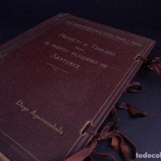 Libros antiguos: PROYECTO DE TINGLADO PARA EL PUERTO PESQUERO DE SANTURCE 1935. Lote 140384938