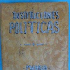 Libros antiguos: LIBRO INSTITUCIONES POLITICAS, MADRID 1772, SOCIEDAD CIVIEL , REYES, BARON DE BYELFELD, ORIGINAL. Lote 140429690