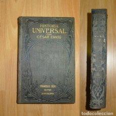 Libros antiguos: CANTÚ, CÉSAR. HISTORIA UNIVERSAL. TOMO SEGUNDO / TRADUCIDA DEL ITALIANO, ANOTADA Y CONTINUADA HASTA . Lote 140480314