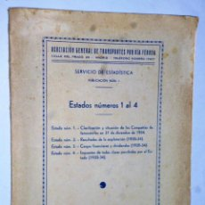 Libros antiguos: ASOCIACIÓN GENERAL DE TRANSPORTES POR VÍA FÉRREA.- (FERROCARRILES,1935). Lote 140551346
