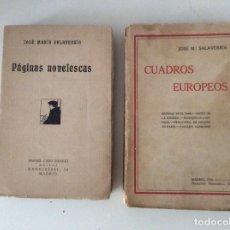 Libri antichi: CUADROS EUROPEOS PÁGINAS NOVELESCAS JOSÉ Mª SALAVERRIA. Lote 140571082
