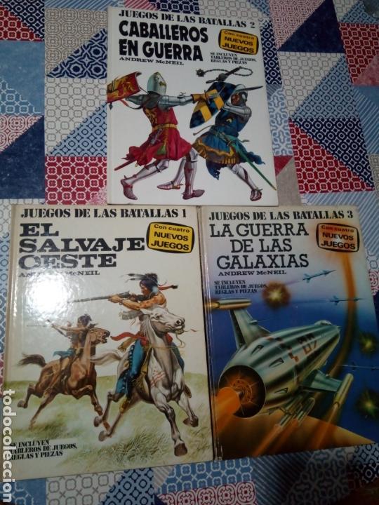 LOS 3 PRIMEROS LIBROS JUEGOS DE LAS BATALLAS OESTE CABALLEROS Y LAS GALAXIAS PLAZA Y JANES (Alte, seltene und kuriose Bücher - Kinder- und Jugendliteratur - Andere Kinder- und Jugendliteratur)