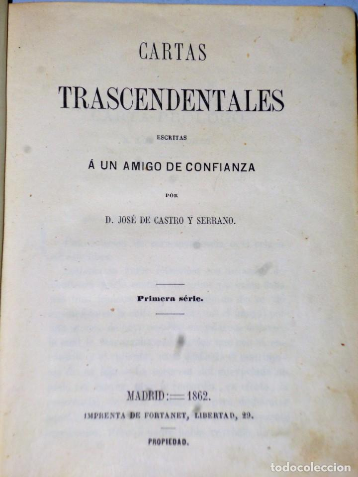 Libros antiguos: CARTAS TRASCENDENTALES ESCRITAS A UN AMIGO DE CONFIANZA. PRIMERA SERIE - Foto 2 - 140608026