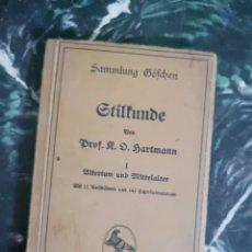 Libros antiguos: STILKUNDE I-II. - SAMMLUNG GÖSCHEN 1918. Lote 140628412