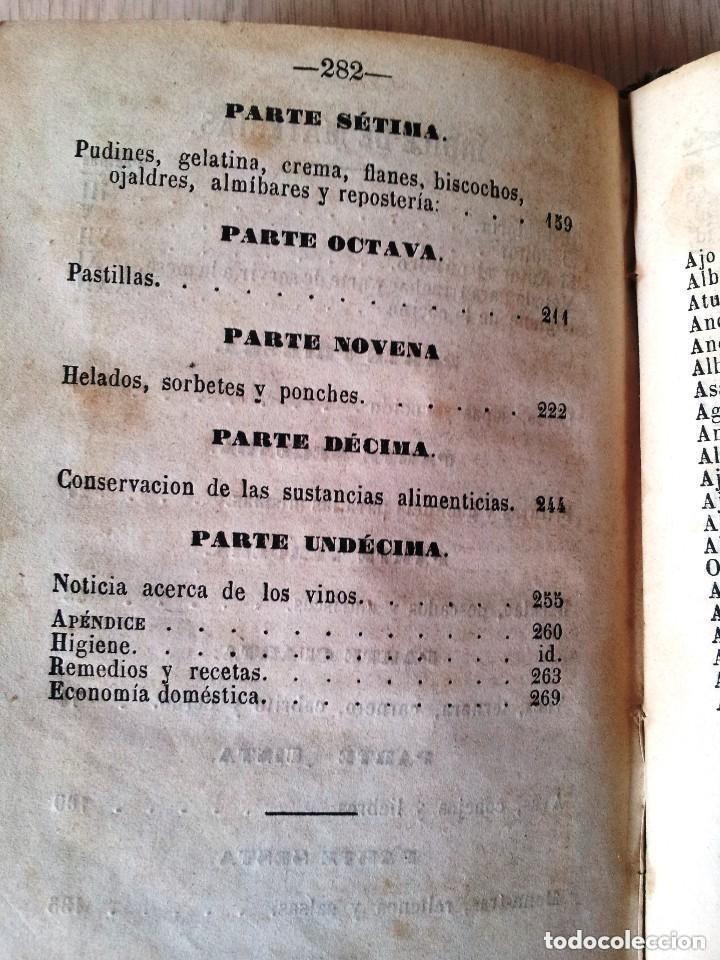 Libros antiguos: GUILLERMO MOYANO - EL COCINERO ESPAÑOL Y LA PERFECTA COCINERA - PRIMERA EDICION MALAGA 1867 - Foto 7 - 140691926