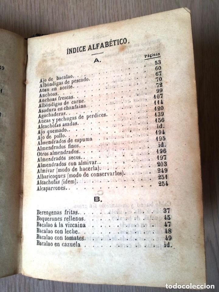 Libros antiguos: GUILLERMO MOYANO - EL COCINERO ESPAÑOL Y LA PERFECTA COCINERA - PRIMERA EDICION MALAGA 1867 - Foto 8 - 140691926