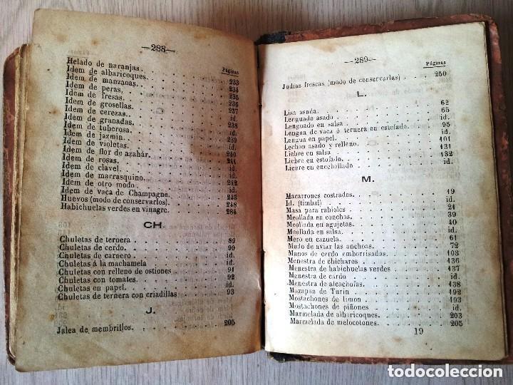 Libros antiguos: GUILLERMO MOYANO - EL COCINERO ESPAÑOL Y LA PERFECTA COCINERA - PRIMERA EDICION MALAGA 1867 - Foto 11 - 140691926