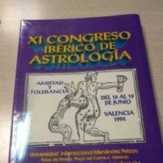 Libros antiguos: LIBRO PRECINTADO XI CONGRESO IBERICO DE ASTROLOGIA VALENCIA 1994. Lote 203221940