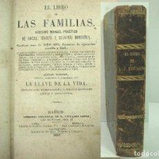 Libros antiguos: 1857 - EL LIBRO DE LAS FAMILIAS - NOVISIMO MANUAL PRACTICO -COCINA HIGIENE ECONOMIA DOMESTICA 7º EDI. Lote 140822206