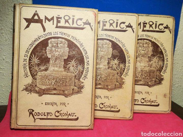 AMÉRICA, HISTORIA DE SU DESCUBRIMIENTO, OBRA EN 3 TOMOS - RODOLFO CRONAU - MONTANER Y SIMÓN, 1892 (Alte, seltene und kuriose Bücher - Geschichte - Andere Geschichtsbücher)