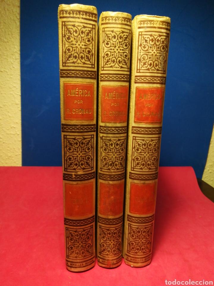 Alte Bücher: América, historia de su descubrimiento, obra en 3 tomos - Rodolfo Cronau - Montaner y Simón, 1892 - Foto 2 - 140881525