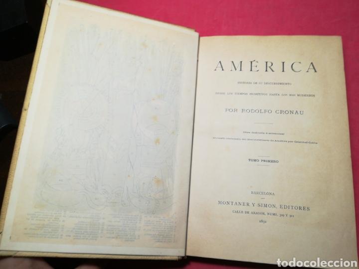 Alte Bücher: América, historia de su descubrimiento, obra en 3 tomos - Rodolfo Cronau - Montaner y Simón, 1892 - Foto 9 - 140881525