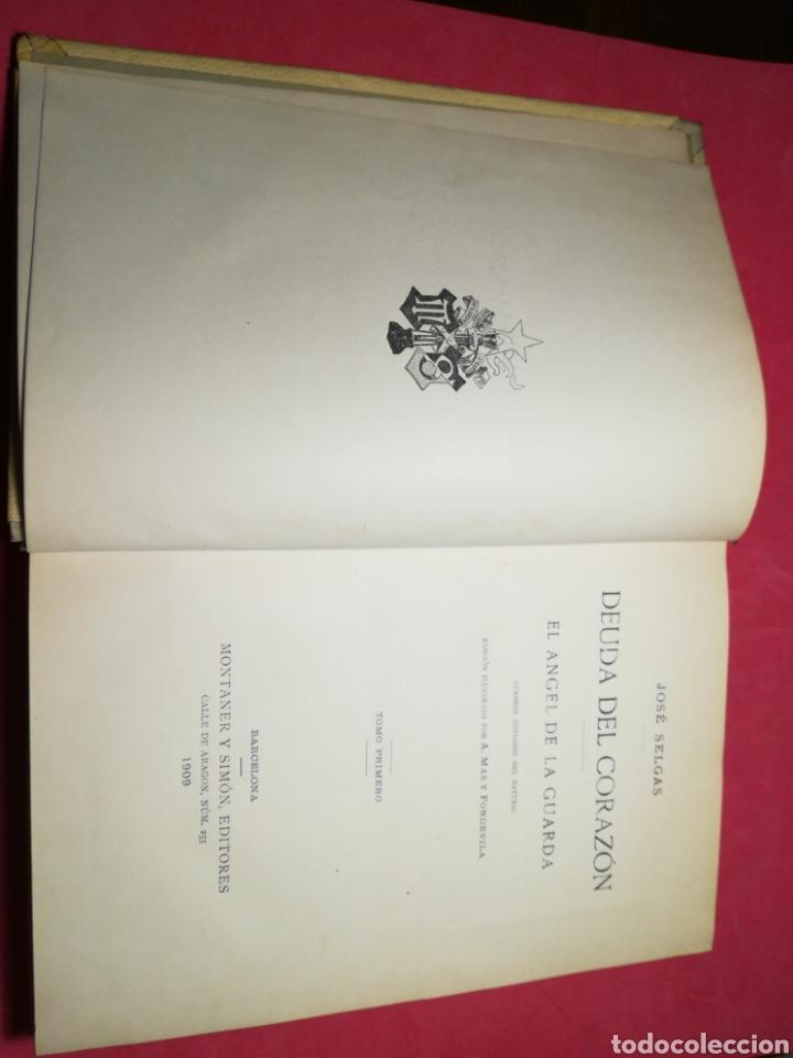 Alte Bücher: Deuda del corazón, el ángel de la guarda - José Selgas - Montaner y Simón, 1909 - Foto 8 - 140885129
