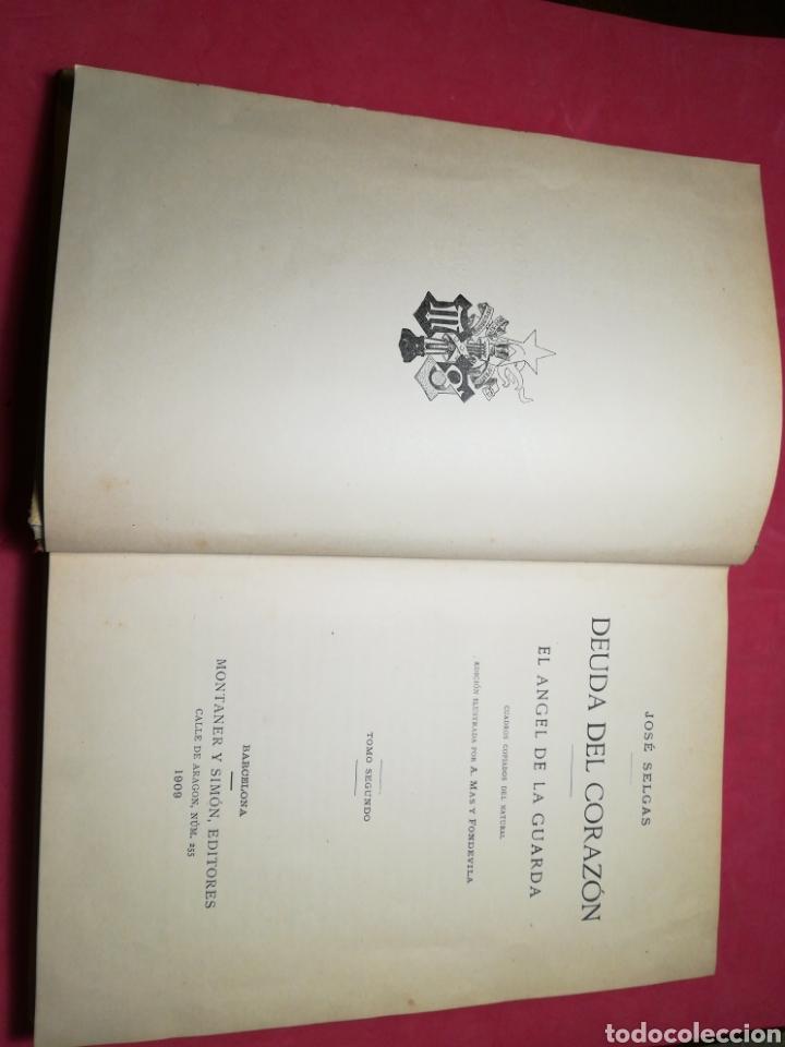 Alte Bücher: Deuda del corazón, el ángel de la guarda - José Selgas - Montaner y Simón, 1909 - Foto 12 - 140885129
