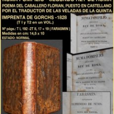 Libros antiguos: PCBROS - NUMA POMPILIO, SEGUNDO REY DE ROMA - POEMA DEL CABALLERO DE FLORIÁN - IMP. GORCHS 1828. Lote 141015670
