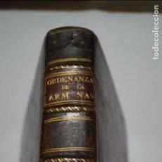 Libros antiguos: ORDENANZAS GENERALES DE LA ARMADA NAVAL. 1793. Lote 141106202
