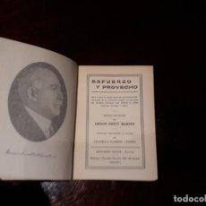 Libros antiguos: ESFUERZO Y PROVECHO. ORISON SWETT MARDEN. ANTONIO ROCH, EDITOR. BARCELONA.. Lote 141206506