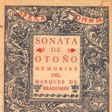 Libros antiguos: RAMÓN DEL VALLE-INCLÁN - SONATA DE OTOÑO. Lote 141367882