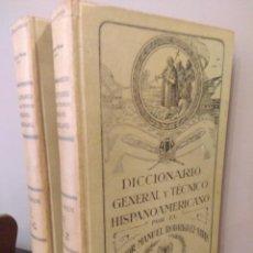 Libros antiguos: DICCIONARIO GENERAL Y TÉCNICO HISPANOAMERICANO - RODRÍGUEZ-NAVAS Y CARRASCO COMPLETO. Lote 141481234