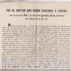 Libros antiguos: ORENSE. PERMISO PARA CONSUMIR EN CUARESMA GRASA, LECHE, MATECA Y QUESO. 1851. RARO. Lote 141508798