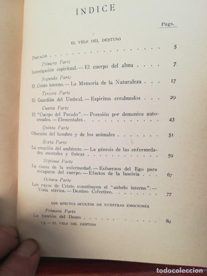 Libros antiguos: EL VELO DEL DESTINO,COMO SE TEJE Y SE DESTEJE-ROSACRUZ-MAX HEINDEL SINTES-APROX 1920-IMPECABLE - Foto 5 - 141516574