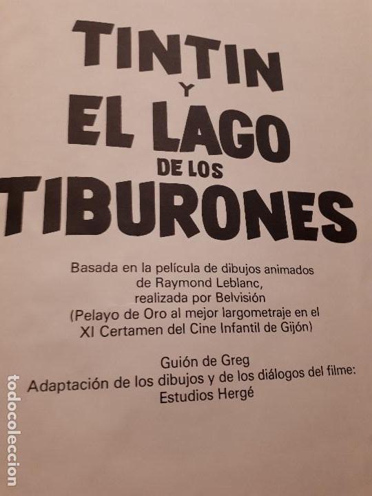Libros antiguos: Cómic tebeo TinTin y El Lago de los Tiburones. Primera Edición 1974. Herge, Ed. Juventud. Lomo tela - Foto 2 - 141518062