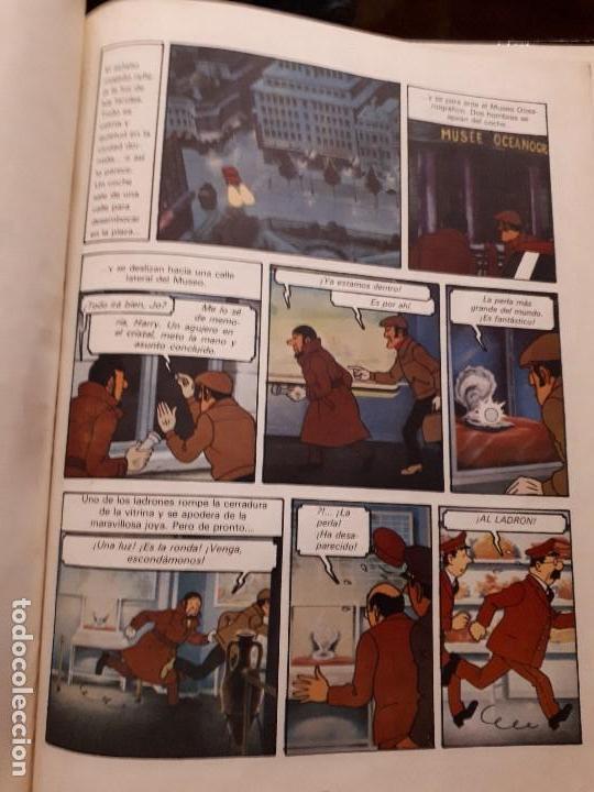 Libros antiguos: Cómic tebeo TinTin y El Lago de los Tiburones. Primera Edición 1974. Herge, Ed. Juventud. Lomo tela - Foto 3 - 141518062