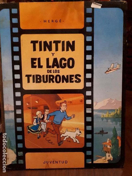 CÓMIC TEBEO TINTIN Y EL LAGO DE LOS TIBURONES. PRIMERA EDICIÓN 1974. HERGE, ED. JUVENTUD. LOMO TELA (Libros Antiguos, Raros y Curiosos - Bellas artes, ocio y coleccionismo - Otros)