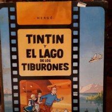 Libros antiguos: CÓMIC TEBEO TINTIN Y EL LAGO DE LOS TIBURONES. PRIMERA EDICIÓN 1974. HERGE, ED. JUVENTUD. LOMO TELA. Lote 141518062