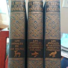 Libros antiguos: EL REINO DE LOS ANIMALES- EL ANIMAL EN SU MEDIO AMBIENTE-´3 TOMOS COMPLETA BERGER-SCHIMD-ESPASA 1946. Lote 141781934