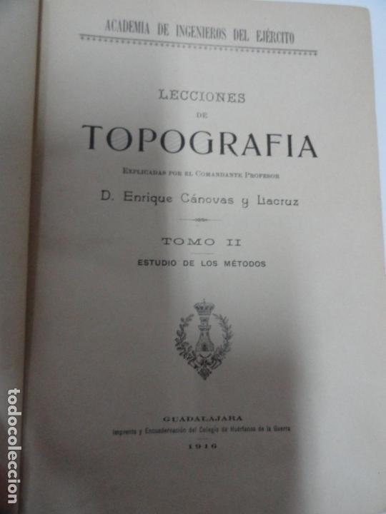 Libros antiguos: Lecciones de Topografía (tomo ii) - Enrique Canovas 1916 - Foto 2 - 141812054